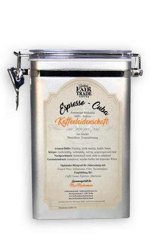 kaffeedose silber